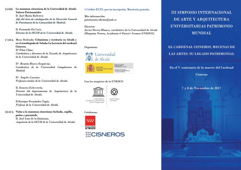 III Simposio Internacional de Arte y Arquitectura Universitarias Patrimonio Mundial